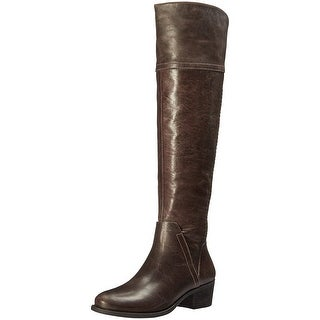 Vince Camuto Womens Bendra Leather Almond Toe Knee High Riding Boots