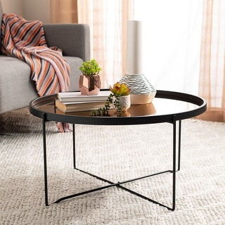 "Safavieh Ruby Round Tray Top Coffee Table - 29"" x 29"" x 15"""