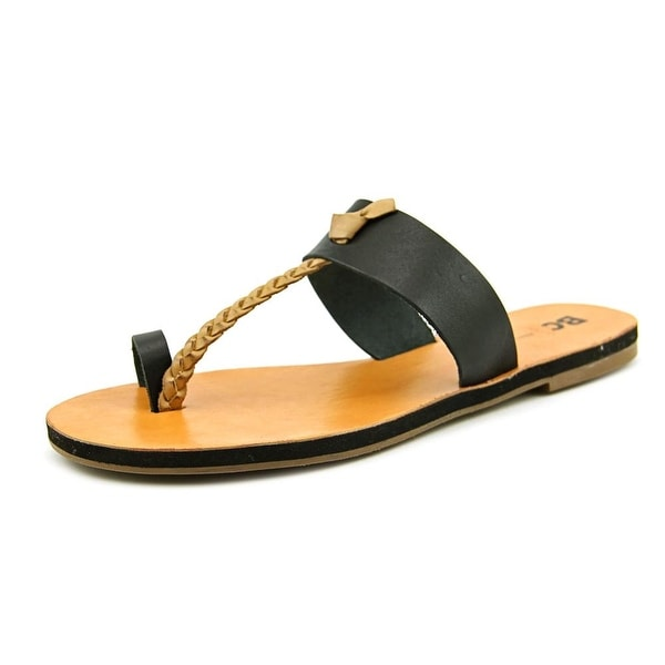 BC Footwear Compact Women Open Toe Leather Slides Sandal