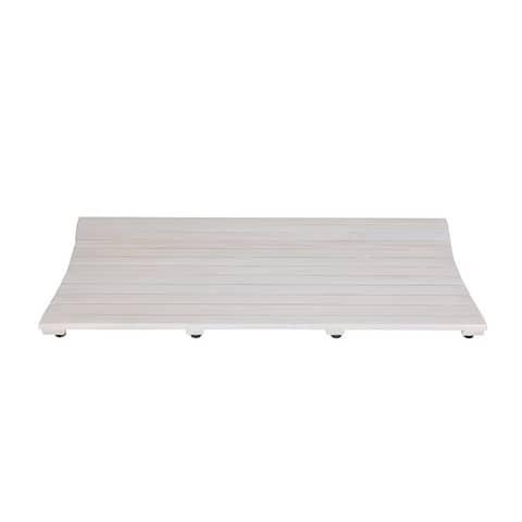 CoastalVogue Eleganto 40in Wide FloorMat ED1135 in a White Finish
