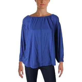 Lauren Ralph Lauren Womens Zainad Casual Top Modal Blend Raglan Sleeves
