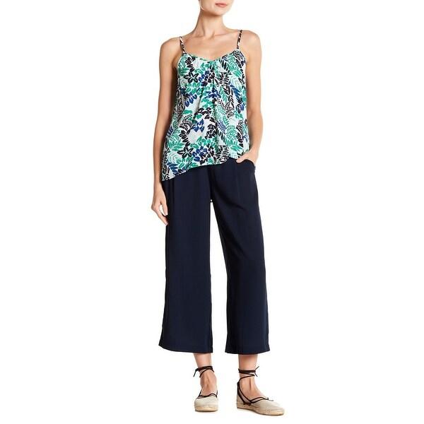 Joe Fresh Blue Women's Size Small S Wide Capris Cropped Pants