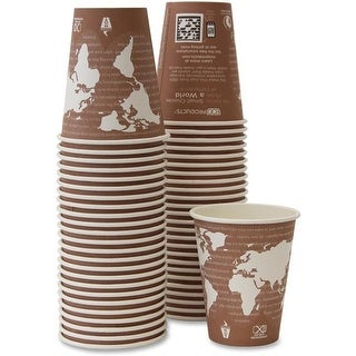 Eco-Products 8 oz Renewable Resource Hot Drink Cups, Plum