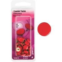HILLMAN 40Pc Red Thumb Tack
