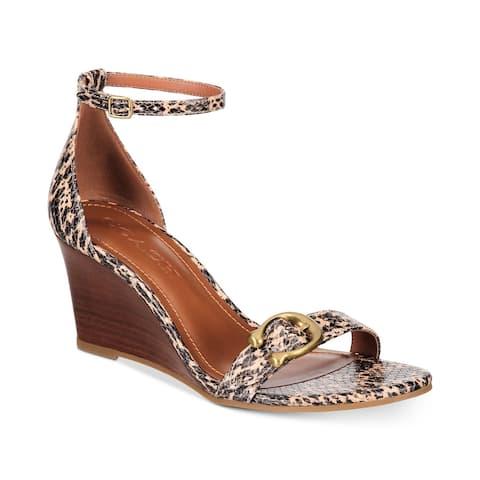 Coach Womens ODETTA Lizard Open Toe Casual Ankle Strap Sandals