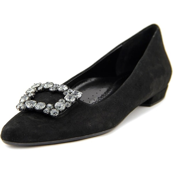 Vaneli Galina Women N/S Pointed Toe Suede Black Flats