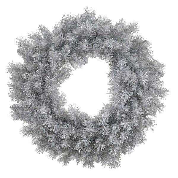 "30"" Silver White Pine Wreath 180T"