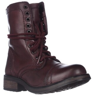 Steve Madden Tropa2 Combat Boots - Wine