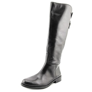 Vince Camuto Kadia Wide Calf Women Round Toe Leather Black Knee High Boot