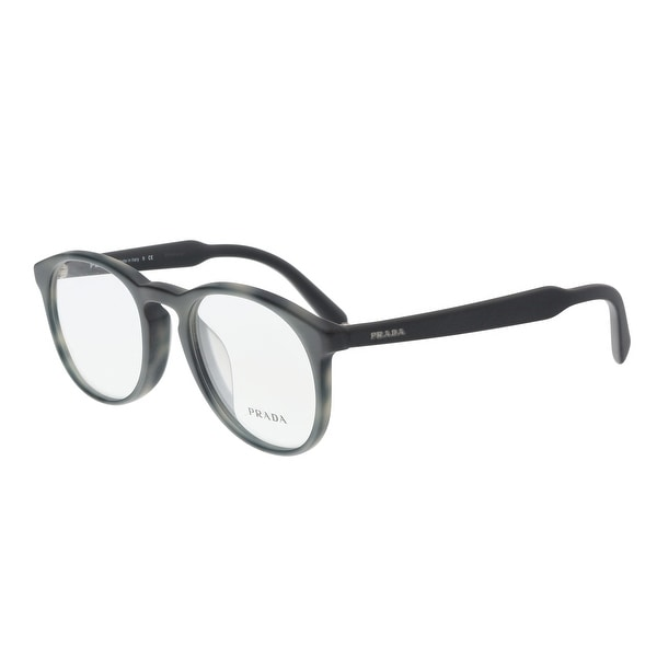 ff5cf30afbc Shop Prada PR 19SVF USD1O1 Matte Grey Round Optical Frames - 50-20 ...