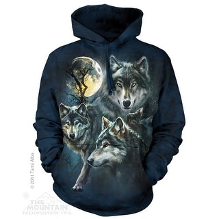 The Mountain Cotton Moon Wolves Collage Hoodie