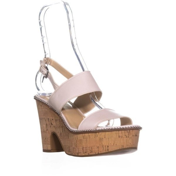 Coach Quartz Blackform Semi Wedge Slingback Sandals , Chalk - 8.5 us / 38.5 eu