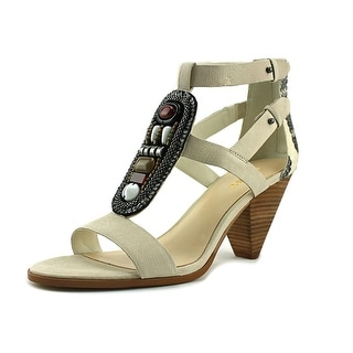 Nine West Reese Women  Open Toe Leather White Sandals