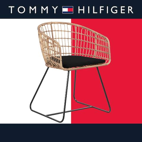 Tommy Hilfiger Graham Rattan Lounge Chair, Black