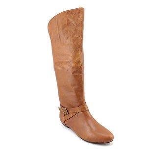 Chinese Laundry Z-Noble Women Round Toe Leather Brown Knee High Boot