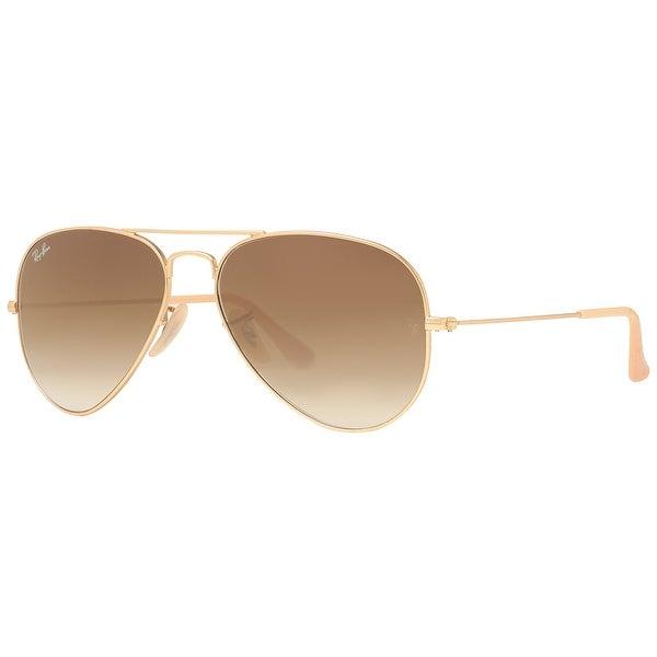 f177967401 Ray Ban RB3025 112 85 55mm Matte Gold Brown Gradient Original Aviator  Sunglasses - 55mm
