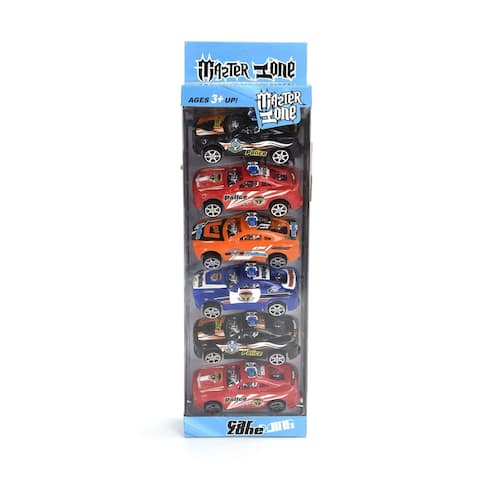 WonderPlay 6PCS Pull Back Car Set MIx Colors