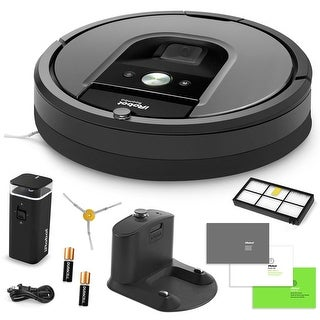 iRobot Roomba 960 Vacuum Cleaning Robot + Dual Mode Virtual Wall Barriers + Extra HEPA Filter + Extra Sidebrush + More