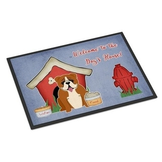 Carolines Treasures BB2874JMAT Dog House Collection English Bulldog Red White Indoor or Outdoor Mat 24 x 0.25 x 36 in.