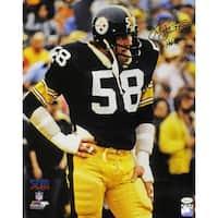 Jack Lambert Autographed Pittsburgh Steelers 16x20 Photo HOF JSA