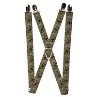 Buckle Down Kids' Elastic 1 Inch Wide Clip-End Camouflage Suspenders