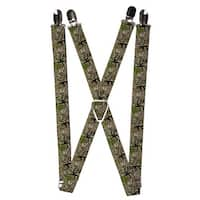 Buckle Down Men's Elastic 1 Inch Wide Clip-End Camouflage Suspenders