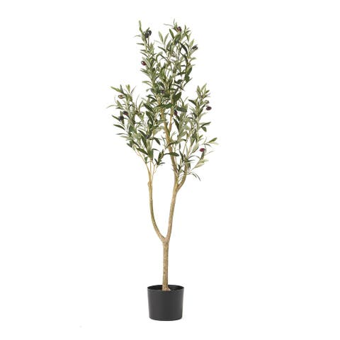 Taos 4' x 1.5' Artificial Olive Tree by Christopher Knight Home