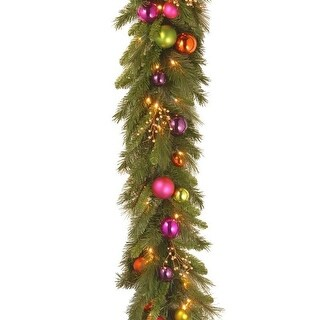 "6' x 16"" Pre-Lit Decorative Artificial Christmas Garland - Soft White LED Lights"