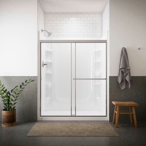 """Sterling 660B-59 Standard 65"""" High x 59"""" Wide Framed Shower Door with Clear Glass"""