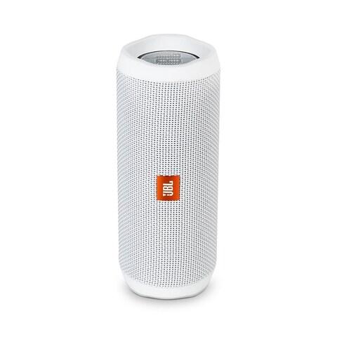JBL FLIP 4 White Portable Bluetooth Speaker - N/A