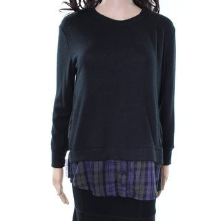 Sanctuary NEW Black Twofer Shirt tail Women's Size XS Sweater Knit Top