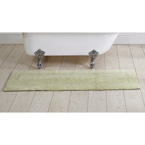 Better Trends Lux Collection in Race Track Pattern 100% Cotton Reversible Tufted Bath Mat Rug