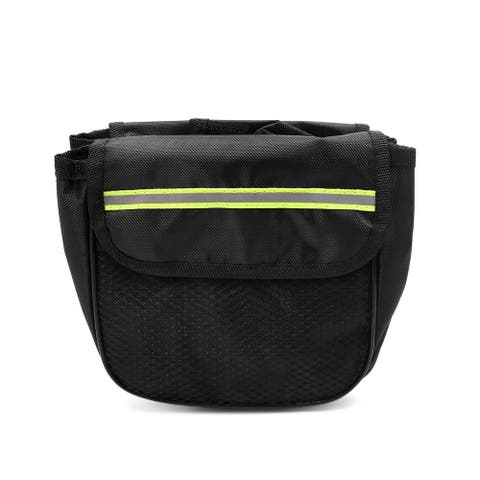 Black Double Side Pocket Front Tube Bag Pouch for Bike Bicycle Cycling