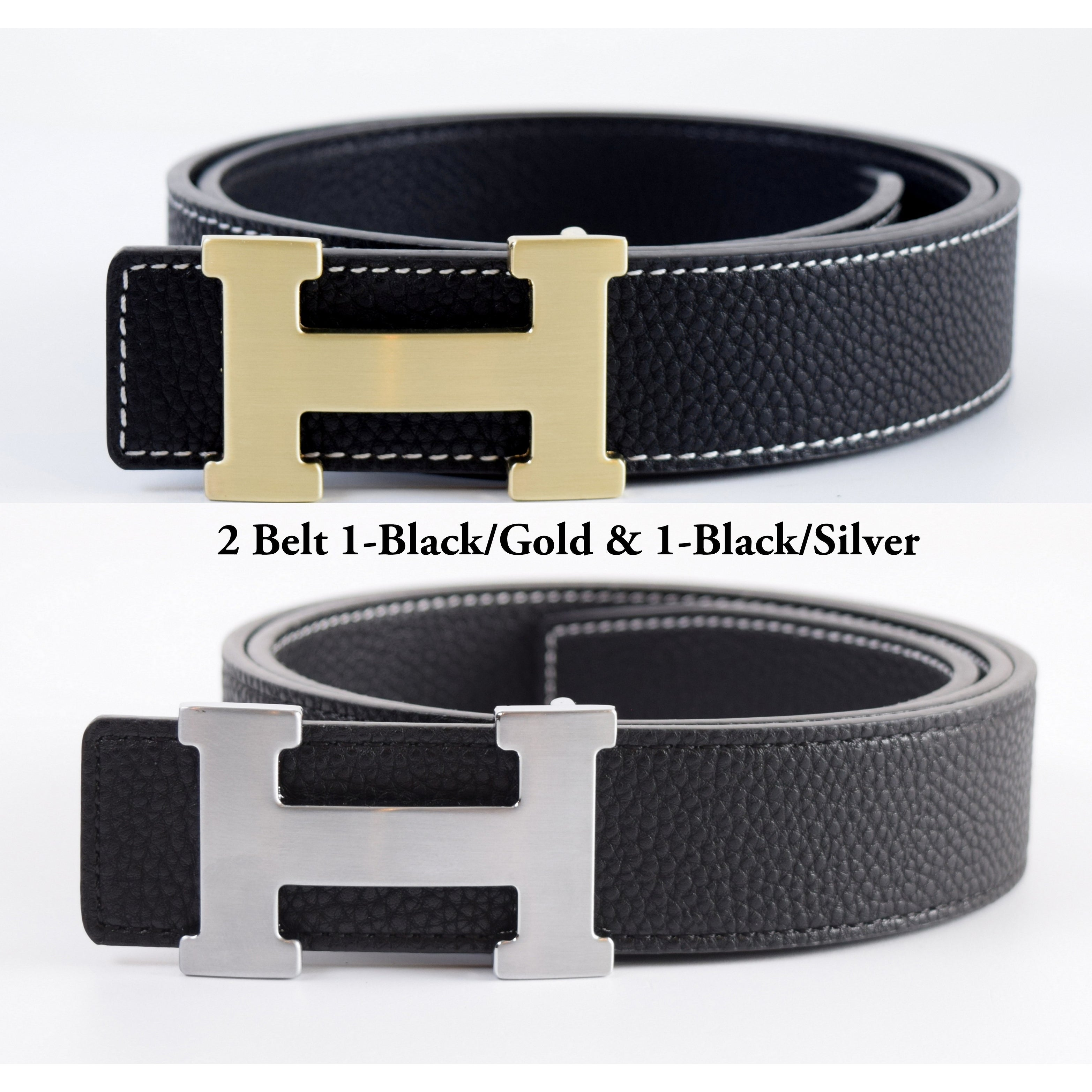 Assorted Colors Black Leather Belt with Steel Guard