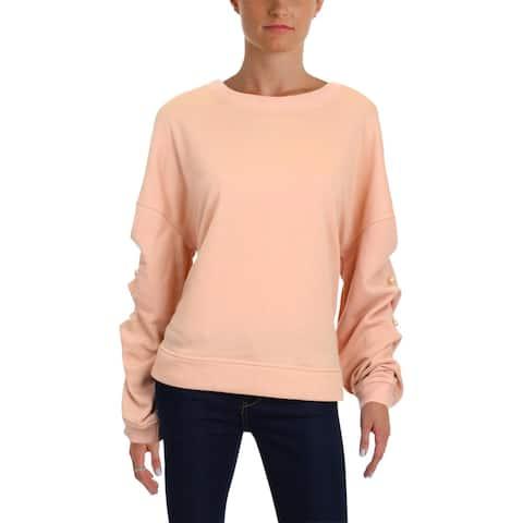 Aqua Womens Sweatshirt Embellished Crew Neck