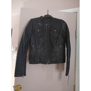 Women's Lambskin Leather Scuba Collar Jacket