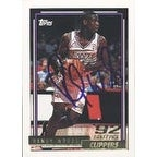 Randy Woods Los Angeles Clippers 1992 Topps Draft Pick Autographed Card This item comes with a cer