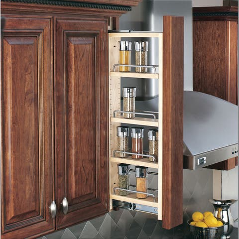 """Rev-A-Shelf 432-WF36-3C 432 Series 3"""" Wall Filler Pull Out Organizer with Adjustable Shelves"""