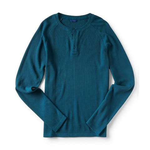 Aeropostale Mens Henley Thermal Sweater
