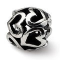 Sterling Silver Reflections Heart Bead (4mm Diameter Hole) - Thumbnail 0