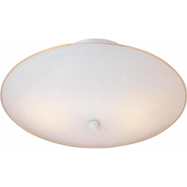 Volume Lighting V1911 2-Light Semi-Flush Ceiling Fixture with Dome Shade - White
