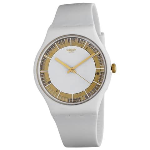 Swatch Men's Sili White dial watch - SUOW158