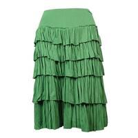 Grace Elements Women's Ruffled Tiered Knit Jersey Skirt