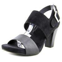 Giani Bernini Womens AIKKO Leather Open Toe Casual Slingback Sandals