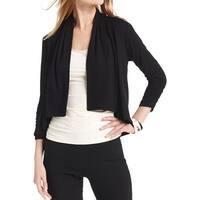 Karen Kane Womens Cardigan Top Open Front Long Sleeves