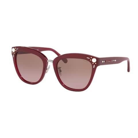 Coach HC8266H 552614 53 Aubergine Woman Square Sunglasses