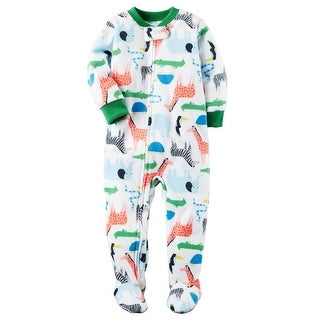 Carter's Baby Boys' 1-Piece Safari Fleece PJs, 12 Months