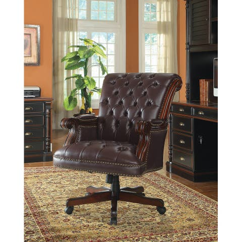 Everly Dark Brown Adjustable Height Office Chair