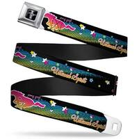 Ford Mustang Emblem Mustang Pony Girl Untamed Spirit Stars Black Multi Seatbelt Belt
