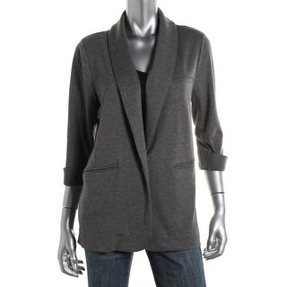 Soft Joie Womens Neville French Terry Heathered One-Button Blazer
